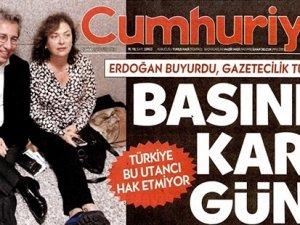 Tutuklama kararından sonra Cumhuriyet Gazetesi hangi manşetle çıktı?