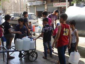 Halep'teki hava saldırısı 3,5 milyon Suriyeliyi susuz bıraktı