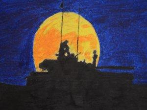 Savaşın çocukları yaşadıklarını çizdi