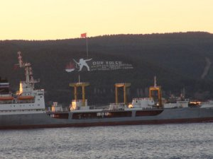 Çanakkale Boğazı'ndan Rus askerî tankeri geçti