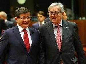 AB Komisyonu Başkanı Juncker'den Davutoğlu'na mektup