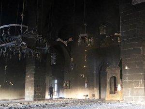Terörün Fatihpaşa camiindeki tahribatı ortaya çıktı