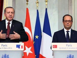Cumhurbaşkanı Erdoğan, Fransa Cumhurbaşkanı Hollande ile görüştü