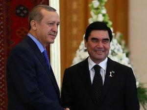 Cumhurbaşkanı Erdoğan Türkmenistan'da