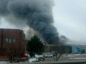 Çankırı'da entegre et tesislerinde yangın