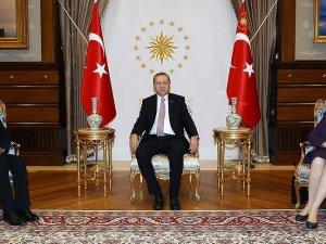 Cumhurbaşkanı Erdoğan Nobel ödüllü Sancar'ı kabul etti