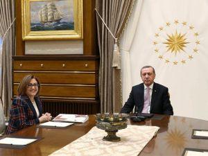 Cumhurbaşkanı Erdoğan, Fatma Şahin'i kabul etti