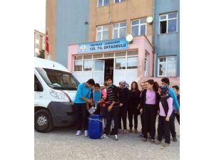 Öğrencilerden Atık Yağ Toplama Kampanyası
