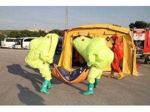 Otobüs Terminalinde Kimyasal Madde Tatbikatı Düzenledi