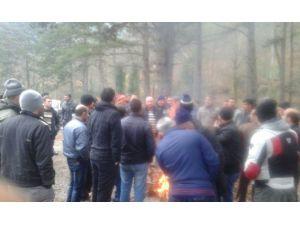 Göçük Meydana Gelen Kurşun Madeni İşçileri Üretimi Durdurdu