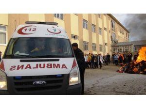 Erciş Devlet Hastanesi'nde Deprem Ve Yangın Tatbikatı