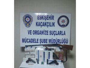 Eskişehir'de Kaçak Sigara Ve Ruhsatsız Silah Operasyonu