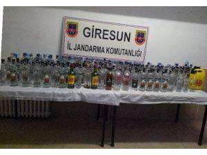 Giresun'da Yılbaşı Öncesi Sahte İçki Ele Geçirildi