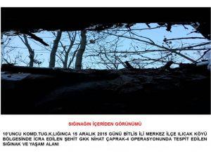 Bitlis Valiliği: PKK'ya ait yaşam malzemeleri ele geçirildi