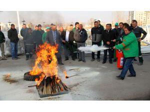 Çankaya Belediyesi'nde yangın tatbikatı