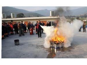 Karşıyaka'da Yangın Tatbikatı