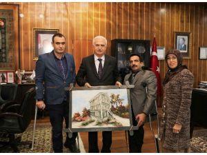 Türkiye Sakatlar Derneği Erzurum Şube Başkanlığı'ndan Rektör Koçak'a Ziyaret