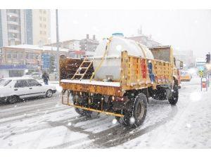 Niğde'de Buzlu Yollar, Solüsyon İle Çözülecek