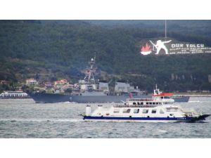Çanakkale Boğazı'ndan ABD savaş gemisi geçti