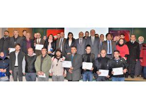 Erzurum'da 198 girişimci adayı sertifika aldı