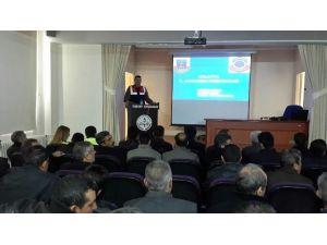 Yeşilyurt İlçe Milli Eğitim Müdürlüğünden Okul Servis Şoförlerine Eğitim