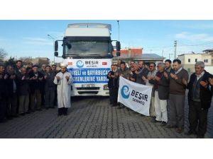 Beşir Derneği'nden Bayır Bucak Türkmenlerine 2 Tır Yardım Gönderildi