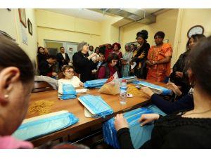 Büyükelçi eşleri Yenimahalle Belediyesi'nde