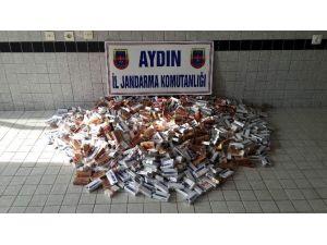 Aydın'da 1500 Paket Kaçak Sigara Yakalandı