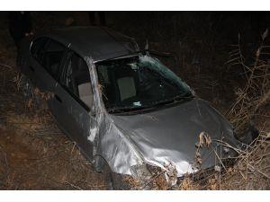Askeri personel kazada hafif yaralandı
