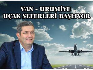 Van- Urumiye Uçak Seferleri 22 Aralık'ta Başlıyor