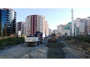 Trabzon Büyükşehir Belediyesinden Yol Çalışması