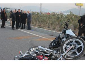 Trafik kazasında hayatını kaybeden şehit babası, son yolculuğuna uğurlandı