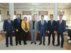 Makedonya Devlet Bakanı'ndan Başkan Aydın'a Ziyaret
