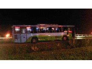 Silivri'de İki Yolcu Otobüsü Çarpıştı
