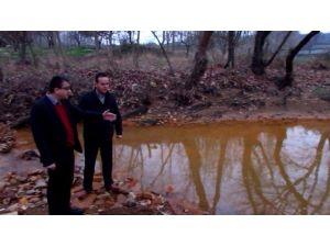 CHP Milletvekili Bülent Öz Kızıl Akan Küçük Çay Sularını İnceledi