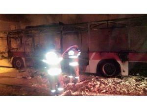 İzmir'de Belediye Otobüsünü Yaktılar