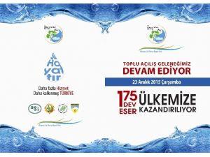 Orman Ve Su İşleri Bakanlığı, Ülke Genelinde Tamamlanan 2,4 Milyar Liralık 175 Eseri Hizmete Alıyor…