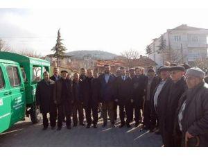 Bolvadin Belediyesi Kemerkaya Köyüne Cenaze Aracı Hibe Etti