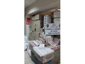 İzmir'de 164 bin 300 paket kaçak sigara ele geçirildi