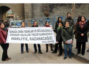 Diyarbakır'da Operasyonları Protesto Eden Gruba Vatandaştan Tepki