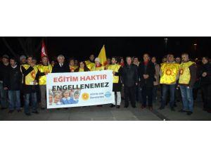 Cizre ve Silopi'de okulların kapatılmasına tepki
