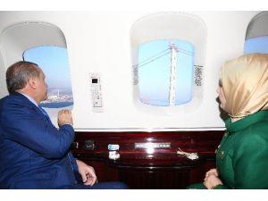 Cumhurbaşkanı Köprü Çalışmalarını Havadan Denetledi
