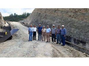 Manavgat Çardak Topsurlar Barajında Çalışmalar Devam Ediyor