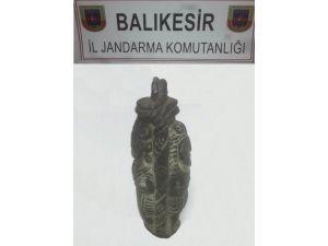Jandarma 4 Bin Yıllık Heykel Ele Geçirdi