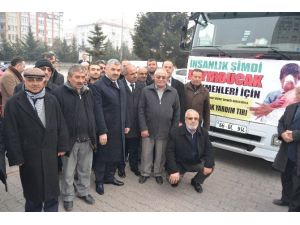 Bayırbucak Türkmenlerine Büyükşehir Belediyesinden İaşe Yardımı