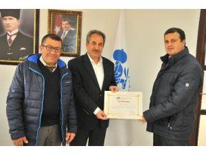 Akşehir Belediyesi'ne TÜİK'ten Teşekkür Belgesi