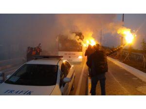 Galatasaray, Kastamonu'da coşkuyla karşılandı
