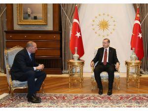 Cumhurbaşkanı Erdoğan, Harun Erdenay'ı kabul etti