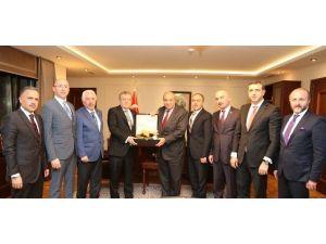 ATO'dan Başbakan Yardımcısı Türkeş'e Ziyaret