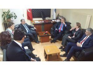 CHP milletvekili heyeti, destek için BASK'ı ziyaret etti